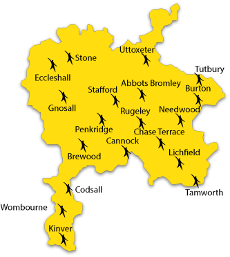 Map of area covered by CASS